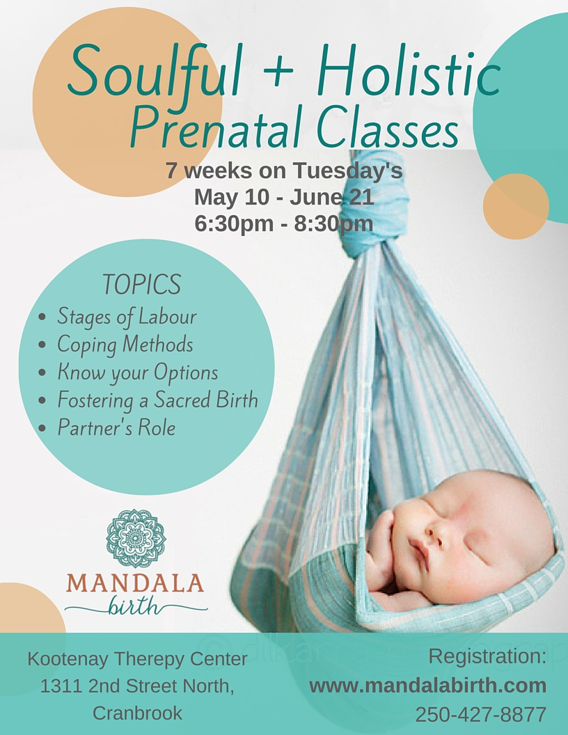Prenatal classes in Cranbrook + Kimberley BC